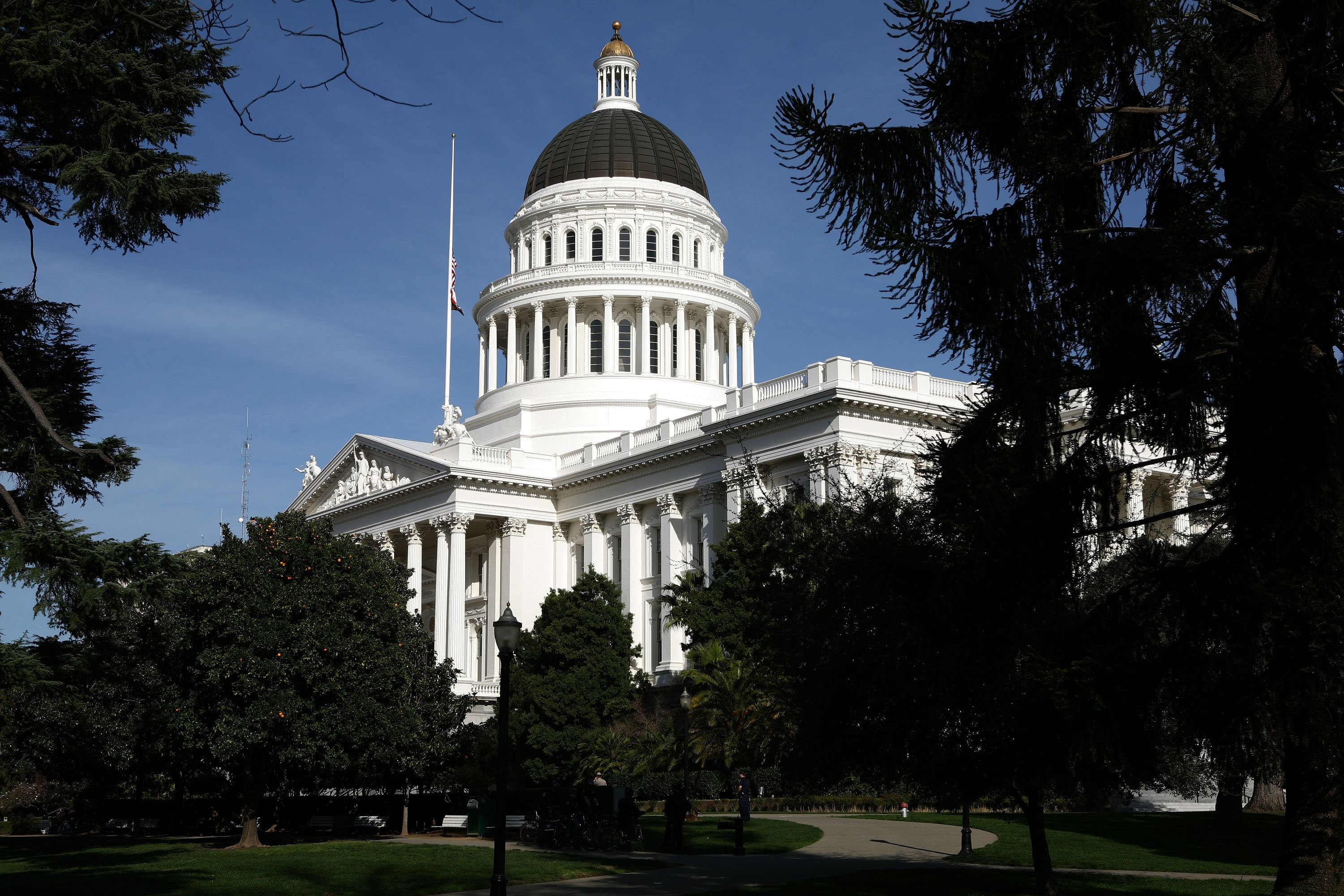 A view of the California State Capitol on Feb. 19, 2009, in Sacramento. (Credit: Justin Sullivan/Getty Images)