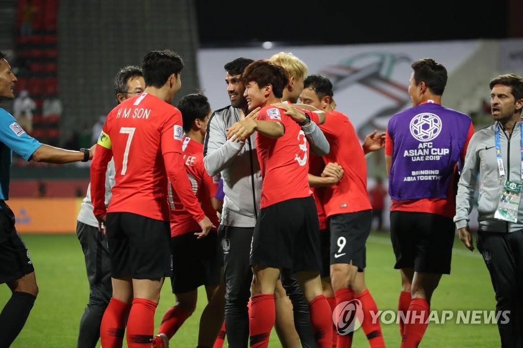 한국축구, 아시안컵 8강 탈락에도 FIFA랭킹 38위…15계단↑