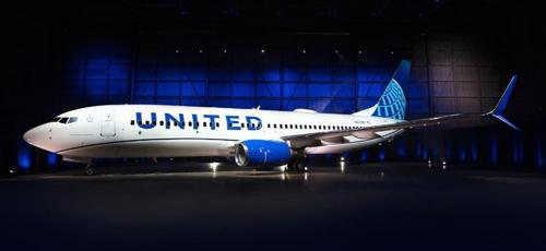 미국 시카고 오헤어국제공항에서 처음 공개된 유나이티드 항공기 새 디자인 [출처: 유나이티드항공]