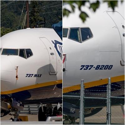 보잉 737 맥스 기종(왼쪽)과