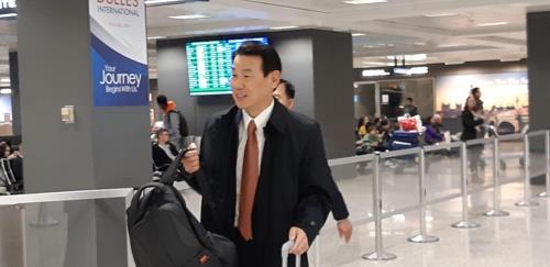 한미방위비분담금 협상차 미국 도착한 정은보 대사