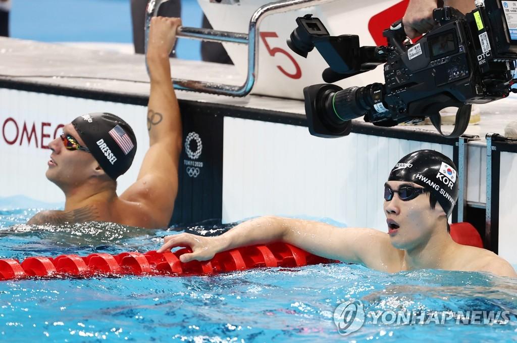 [올림픽] 황선우, 자유형 100m 5위…아시아인 69년 만의 최고 성적